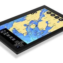 Navigasjon og ekkolodd på same skjerm.