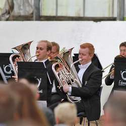 Eikanger-Bjørsvik Musikklag er regjerande Europameistrar for brassband. (Foto: KOG)