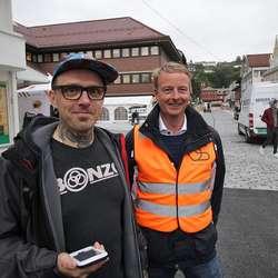 Kjetil O. Grønvigh og Terje Søviknes held bra tempo i dag. (Foto: KVB)