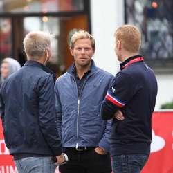 Thor Hushovd saman med rittsjef Roy Hegreberg (foto: AH)