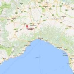 Hotellet ligg om lag 1,5 time frå Milano, Genova og Torino. (Google Maps)