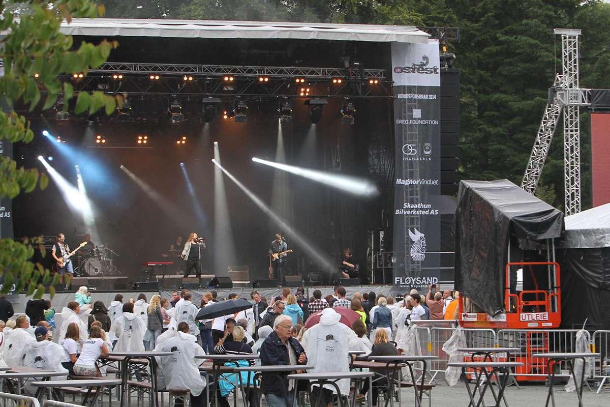 Sånn såg det ut då Eirik opna første Osfest i 2014. (Foto: Kjetil Vasby Bruarøy)
