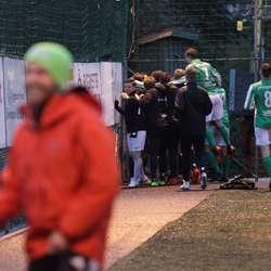 Så var det Søfteland sin tur igjen, 2-1 ved Thomas Skjelde. (Foto: KVB)