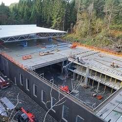 Bygget er på til saman 5.500 kvm fordelt på to etasjar. (Foto: KVB)