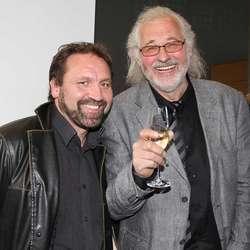 Film og kunst: Helge Haukeland og Arne Mælend. (Foto: KVB)