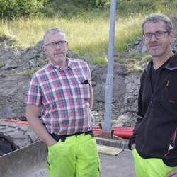 Atle og Stig Ove Tjosås frå Hardanger Maskinstasjon AS. (Foto: KVB)