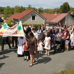 Også dei yngste var i marsj. (Foto: Anders Fløysand)