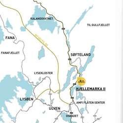 Her ligg Hjellemarka. (Skisse/kart BLU)