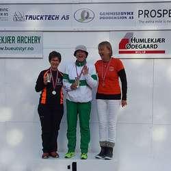 Kjerstin Hoff fekk også NM-sølv. (Privat foto)