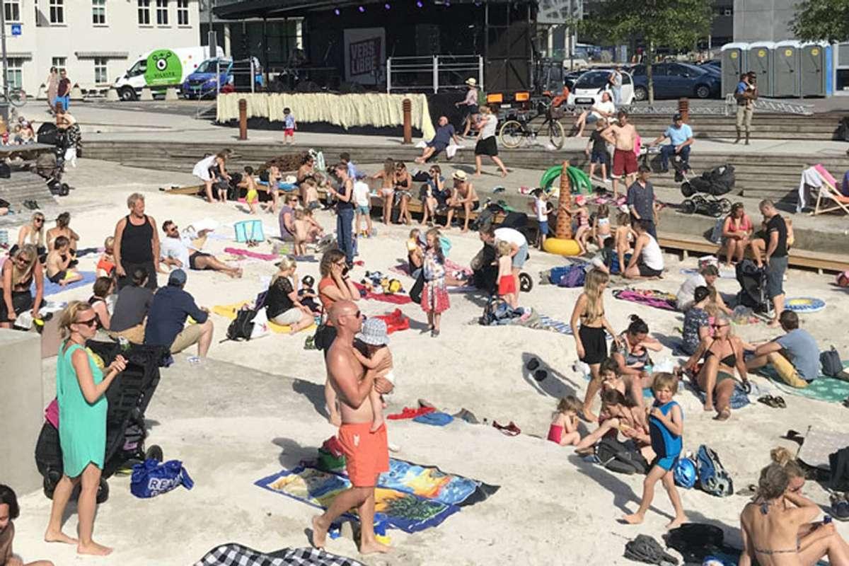 Bystrandfestivalen skulle arrangerast her, på Marineholmen i Bergen.