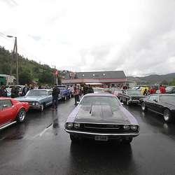 Over 90 deltok i amcar-paraden. (Foto: Kjetil V. Bruarøy)