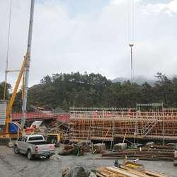 300 kubikk betong går med når denne brua på fylkesvegen skal støypast. (Foto: KVB)