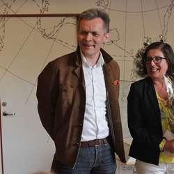 Per Morten Ekerhovd og Mette Nora Sætre frå Hordaland fylkeskommune. (Foto: Kjetil Vasby Bruarøy)