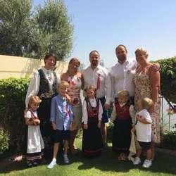 Familien Arentzen i Dubai.