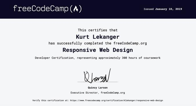 Freecodecamp-sertifikat.