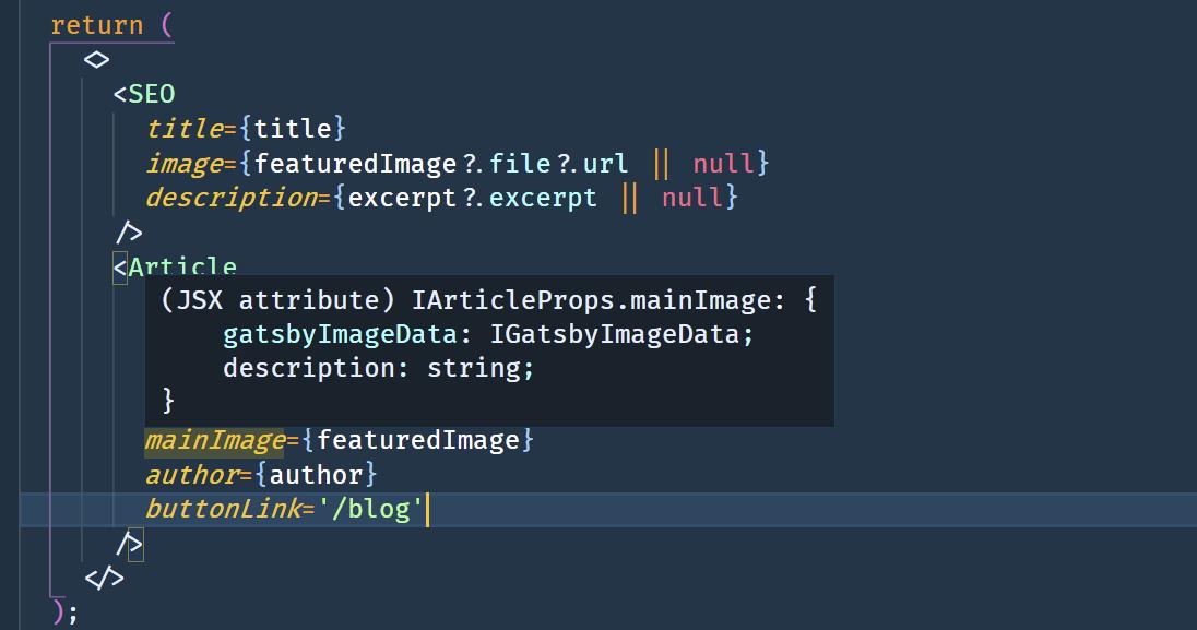 Typescript og VS Code er en drøm å jobbe med.