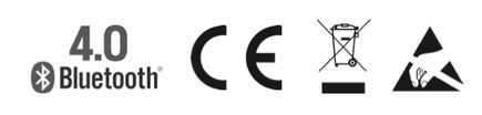 Blutetooth CE etc compliance logos