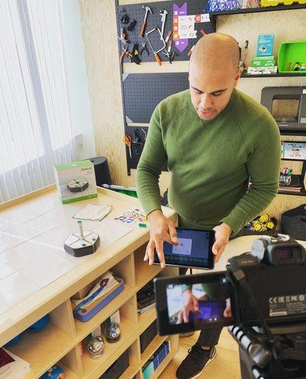 trainer recording videos