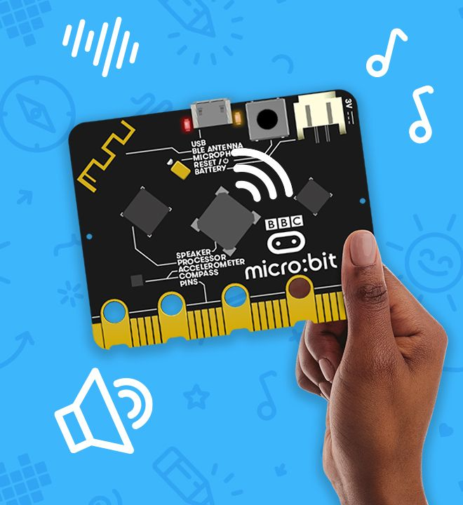 内蔵のスピーカーを使って micro:bit から音を再生します