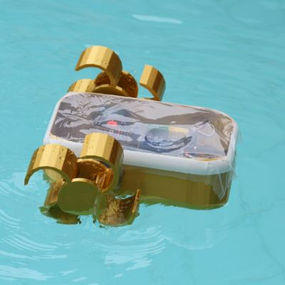 Solar-powered boat