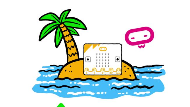 micro:bit on a desert island