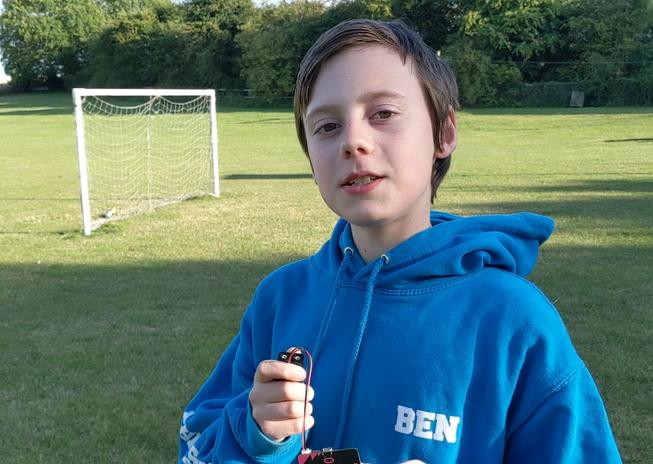 Boy attending the remote micro:bit summer school