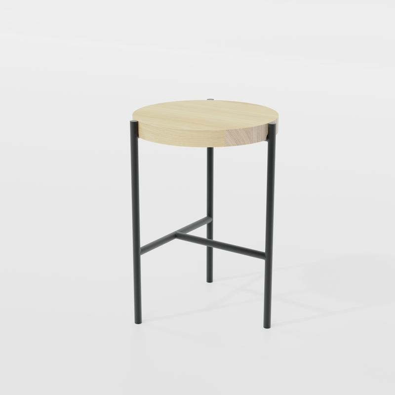 Composed Stool Natural Ash