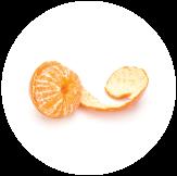 Freshly peeled mandarin. An aroma explosion.