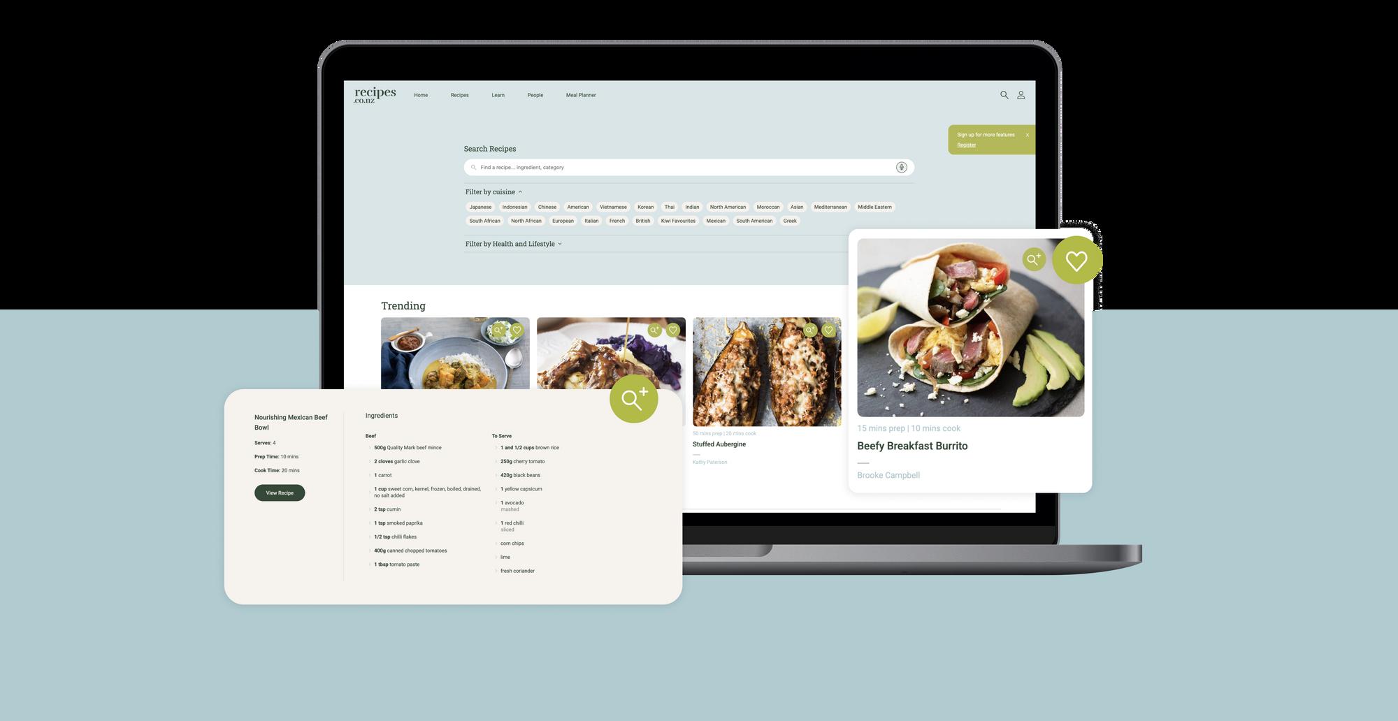 Recipes.co.nz - digital marketing