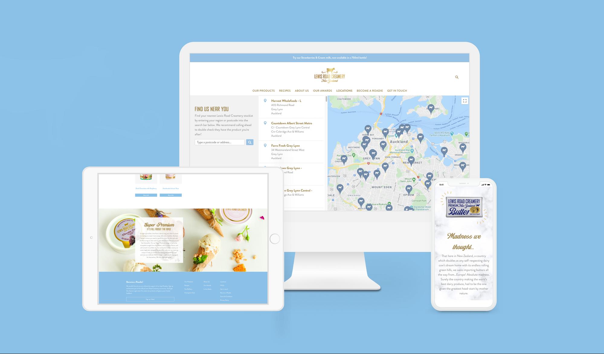 Lewis Road Creamery - digital marketing
