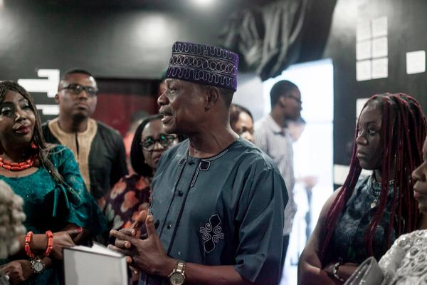 Director of Ikoyi speaking at the opening of the exposition in 2018 at AAF.