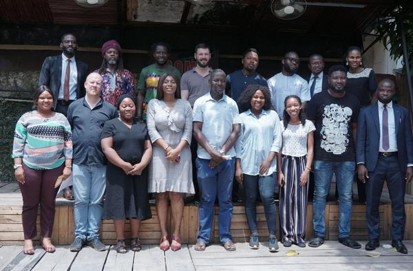 Participants of the Workshop: Setting up the Informal Justice Court, February 26th 2020 at the African Artists' Foundation.