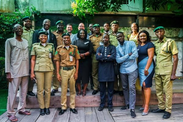 Selection of attendees Seminar. Kick-of event Informal Justice Court, August 16th, 2018, African Artists' Foundation, Lagos.
