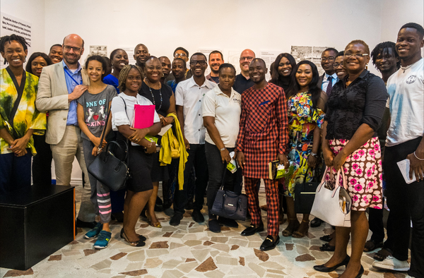 Group picture during the opening of the Expo in 2019.
