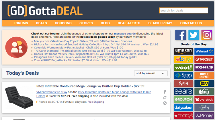 Gottadeal homepage