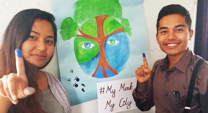 Estudiantes de Derecho por el medioambiente en Katmandú