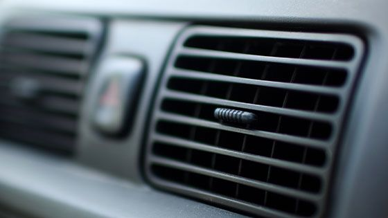 air-conditioner in car dashboard