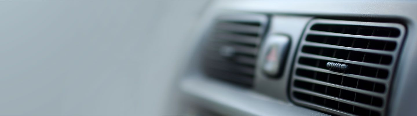 air conditioning vents in car dashboard