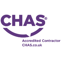 Logo of CHAS - the UK's leading accreditation scheme for contractors