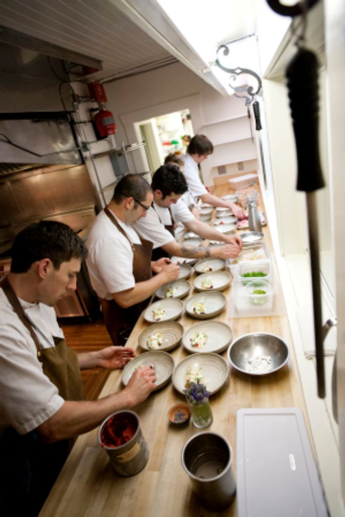 Chef Blaine and his staff prep a meal