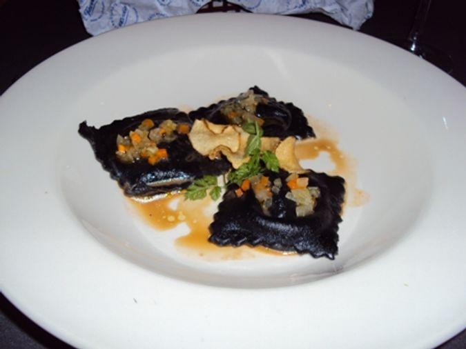 Squid Ink Ravioli