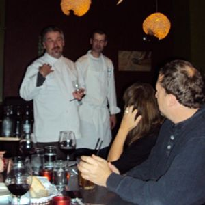 Chef and owner Chris Douglass (left)