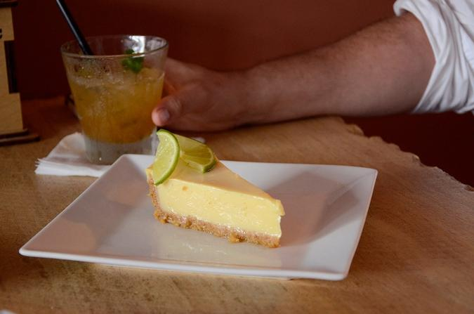 Key lime pie with a signature margarita from Agave 308.