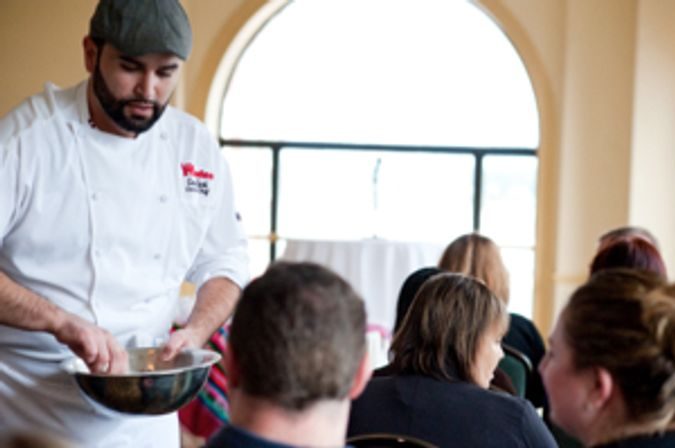 Chef Cesin Curi of Los Andes at Taste Trekkers (photo by Stacey Doyle)