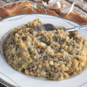Bukharian Mung Bean Rice with Garlic Oil
