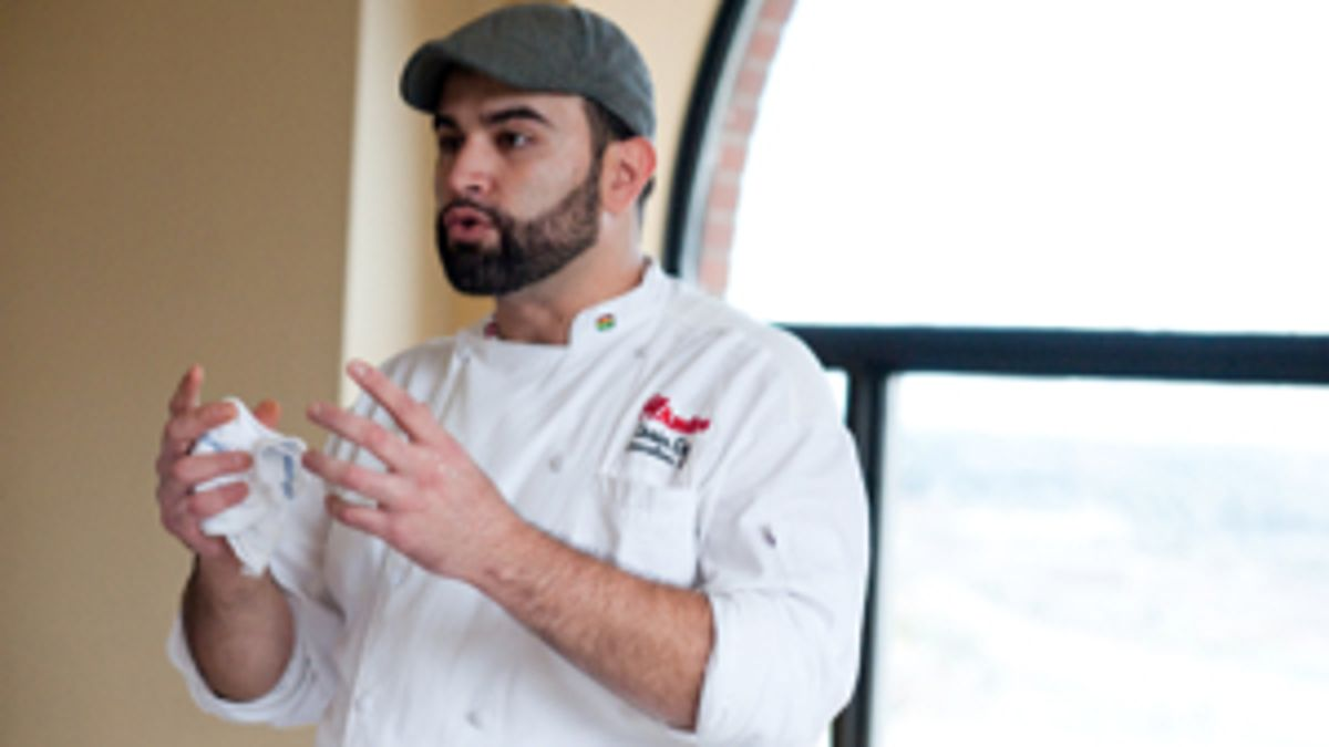 Chef Cesin Curi of Los Andes at the 2013 Taste Trekkers Expo (photo by Stacey Doyle)