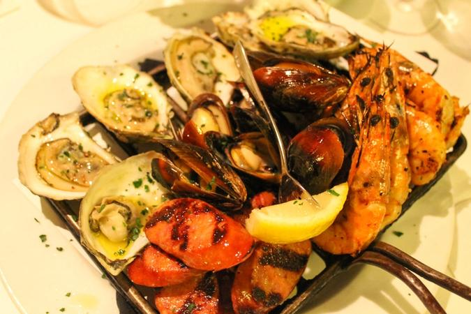 Family-Style Grilled Shellfish Platter
