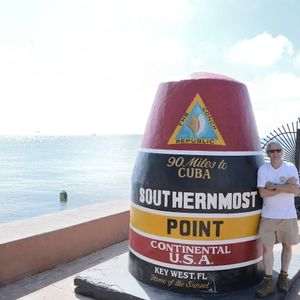 Author at the southernmost point in the U.S.