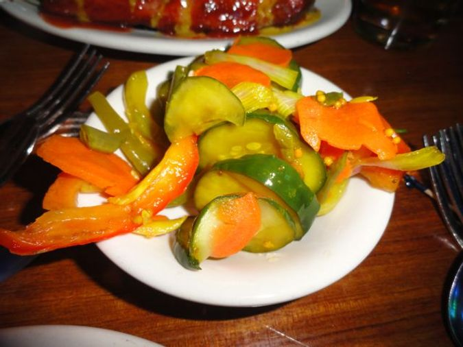 Pickled veggies to provide relief from the heat.