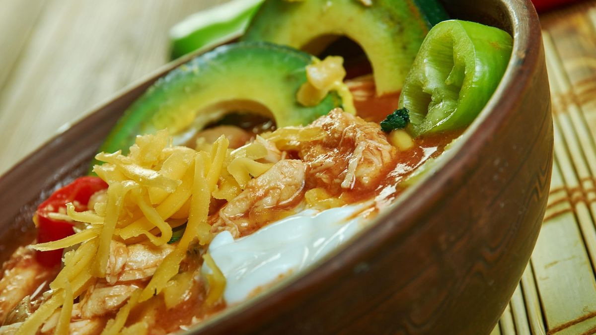 Mexican Slow Cooker Fiesta Chicken Soup, not only gluten free and dairy free